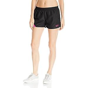 Soffe Women's Jrs Stride Short, Black/Pink Glow, Large