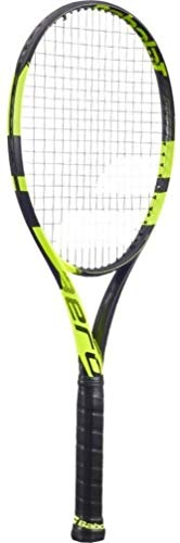 Babolat Pure Aero Plus Tennis Racquet, Choice of Strings (4 3/8, Excel String)