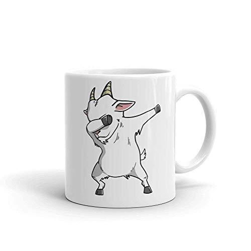 (Goat Dabbing Ceramic Coffee Mug, Funny Farm Pet Dab Gift by Max&Mori)