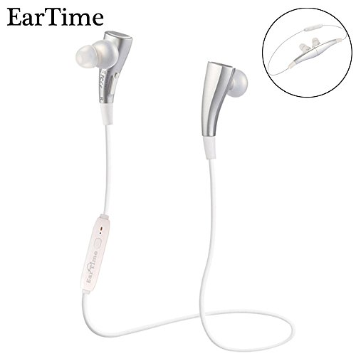 Price comparison product image EarTime G11 Bluetooth 4.1 Stereo Headphones Wireless Lightweight Sports Headset In-Ear Volume Control Noise Cancelling Earbuds for iPhone6,iphone7,SE,iPad,LG,Samsung and Android Smartphones