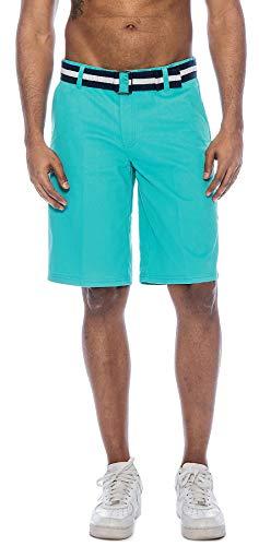 - TR Fashion Men's Bahamas Belted Walking Shorts (Emerald, 30)