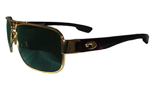 Costa Del Mar Tower Sunglasses Gold Green Mir