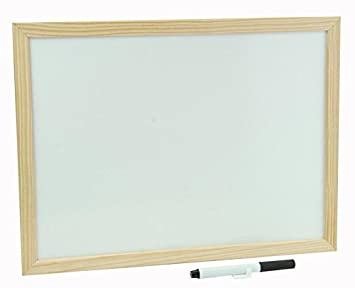 Pizarra blanca marco de madera 900 X 600: Amazon.es: Oficina ...