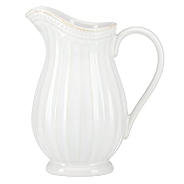 Lenox French Perle Groove Pitcher, Mini, White by Lenox