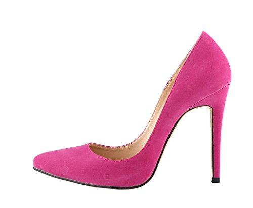 las de del zapatos resbalón dedo pana vestido de de atractiva tacón los mujeres en pie bombas moda de del La La baja subió puntiagudo las el boca alto qCRvTxTn