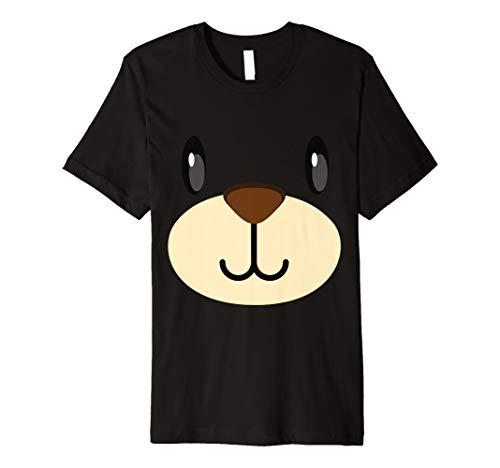 (Cute Bear Face Costume Shirt Funny Halloween Teddy DIY)