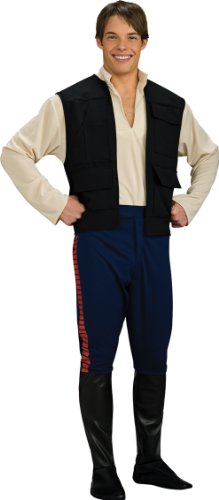 [Deluxe Han Solo Costume - Standard - Chest Size 46] (Han Solo Adult Costumes)