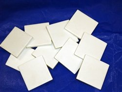White Streak Plates, 2''x2'', 10 Pack by Geoscience Industries (Image #1)