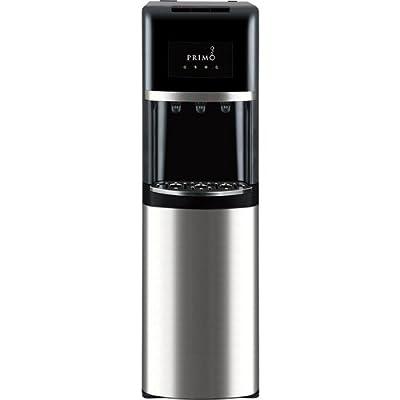 Primo Stainless Steel & Black Bottom Load Bottled Water Dispenser - 3, 4 or 5 Gallon