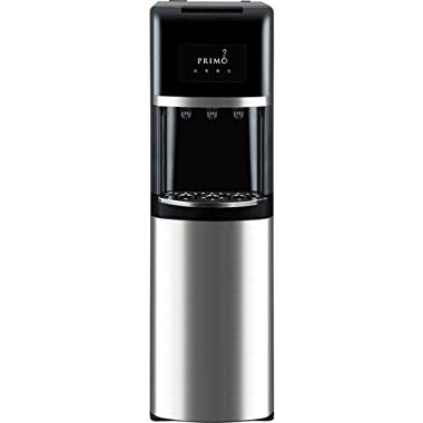 Primo Stainless Steel & Black Bottom Load Bottled Water Dispenser - 3, 4 or 5 Gallon