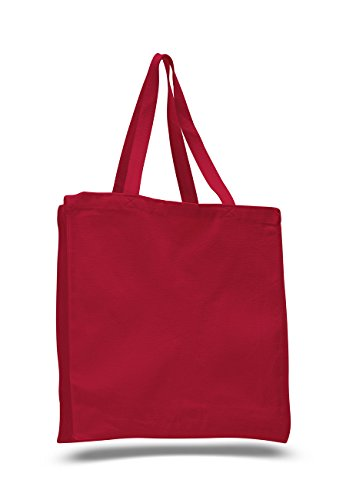 Pack of 6 -Cotton Canvas Shopper Bag Tote Bag with Gusset -S