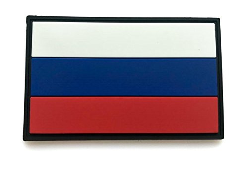 Russia Country Flag Russian FLAG RUBBER HOOK & LOOP VELCRO P