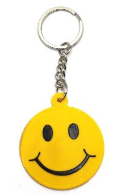 GCT Single Sided Smiley Emoji Smiling Face Rubber Keychain for Car ... 670a3b198