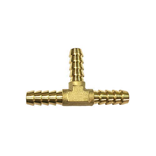 NIGO 3-Way Tee Brass Hose Fitting 5/16