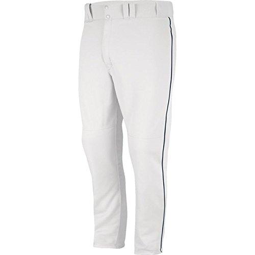 Majestic Men's 8940 Zipper Front Baseball Pant (White/Nav...