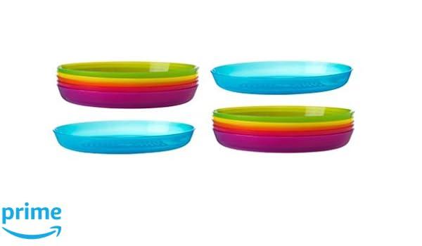 Ikea Moderno diseño elegante plástico Bandeja de en varios colores para Picnic y exterior juego de 6: Amazon.es: Hogar