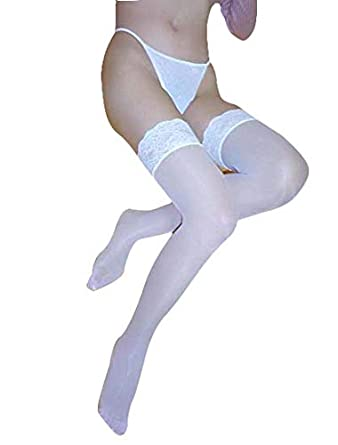 29e7c55c6 Image Unavailable. Image not available for. Colour  Boldiva White Sexy Thigh  High Stocking with Panty for Women