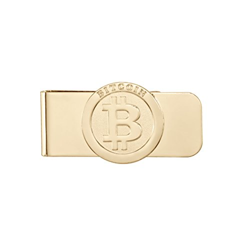 Gold Plated Bitcoin Wallet- Money/Cash Clip, CreditCard Holder, & Business Card Holder| Minimalist Wallet, Best for Security Travel Accessories, Travel Wallet| Unique Gift for Bitcoin - Benefits Usa Card 100 Gift