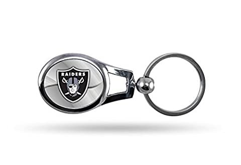 NFL Oakland Raiders Oval Keychain - Nfl Key Ring