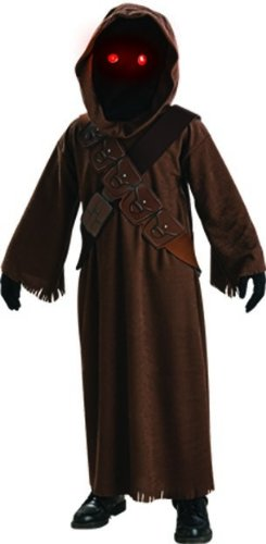 Star Wars Jawa Costume with Light Up Eyes - One Color - Medium (Top Halloween Costumes For Boys)
