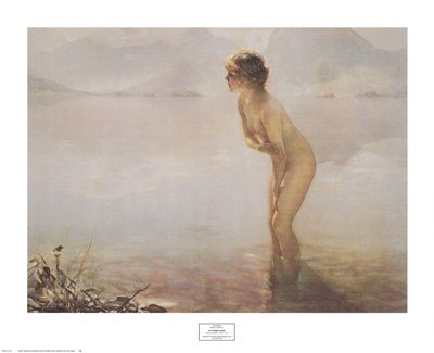 Amazoncom September Morn By Paul Chabas 32x26 Inches