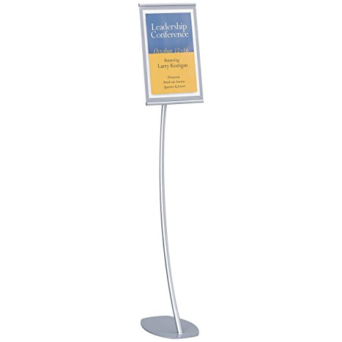 Quartet Designer Sign Stand, 11 x 17 Inches, Silver, Aluminum Frame (7922) by Quartet
