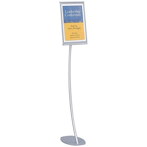 Quartet Office - Quartet Designer Sign Stand, 11 x 17 Inches, Silver, Aluminum Frame (7922)