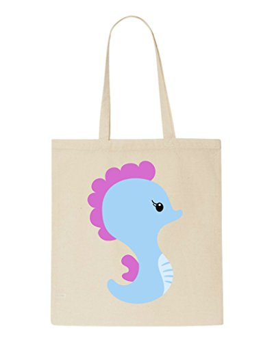 Cute Tote Bag Under Sea Shopper Seahorse Natural The Character qSrq6wznTx