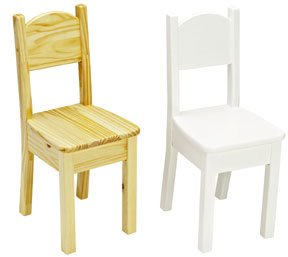 - Little Colorado Personalized Open Back Chair, White