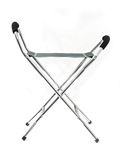 Canne se transformant en chaise pliante, armature en alliage le