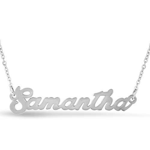 Beam Reach Samantha Nameplate Necklace in Silver Tone