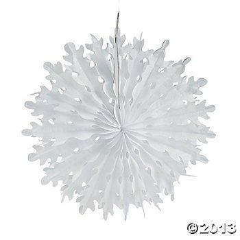 12 Pack Christmas Tissue Snowflake Decorations (Christmas Wonderland Decorations)