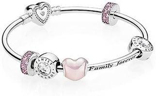PANDORA-Bracelet Rigide avec 5 Charms Boîte de garantie d'origine ...
