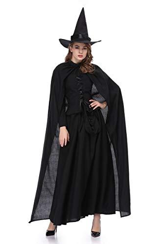 Cosplay Costume Fantasmi Carnevale Mantello Halloween Black Da Festival Dei Vestito Nero Ballo Xsqr Abiti B0t4wq6w