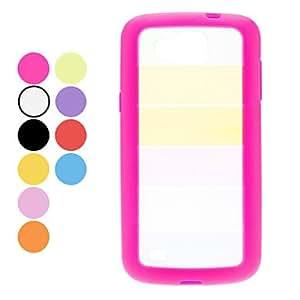 Buy Colorful Transparent Hard Case for Samsung Galaxy Premier I9260 (Assorted Colors) , Orange