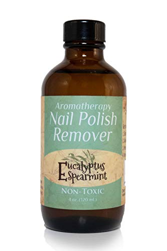 Polish Nail Flammable Remover - Marley Marie Naturals Nail Polish Remover - Eucalyptus Spearmint (Stress Relief) 4 oz. bottle