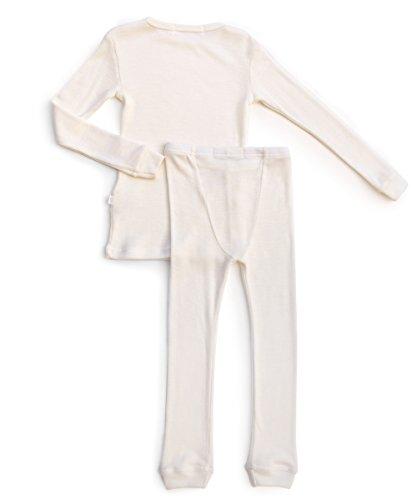 Merino Wool Kid White boy and Girl. Thermal Underwear Base Layer Unisex. Size 6 by Simply Merino (Image #5)