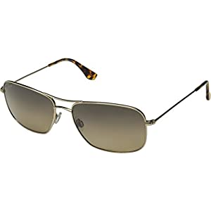 Maui Jim HS246-16 Gold/HCL Bronze Lens Wiki Wiki Aviator Sunglasses Polarised