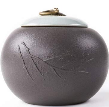 4 XIAN Pet Urns for Dogs Ashes and Cats Too Pet Urn Box Cat Dog Died Crematorium Jar Ceramic Ash Bottle Souvenir Medium Eucalyptus Memorial Ashes (Style   2)