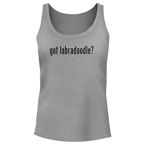 (One Legging it Around got Labradoodle? - Women's Funny Soft Tank Top, Heather, Small)