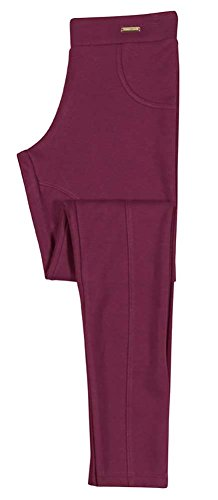 Tween Girl Leggings Equestrian Pants Pulla Bulla Size 14-16 Years - Burgundy (Tween Leggings)