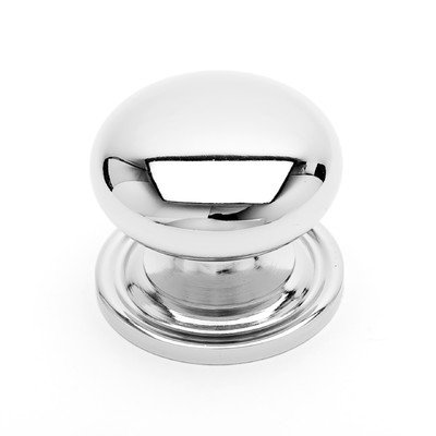 - RK International RKI R.K. International CK 3217 ATPN Small Solid Plain Knob with Backplate, Polished Nickel,