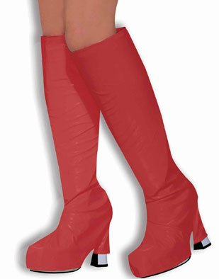 Womens 60s Red Go Go Boot Covers