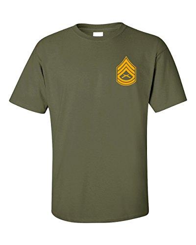US Marine Corps Gunnery Sergeant T-Shirt (Large, Military Green) - Marine Corps Gunnery