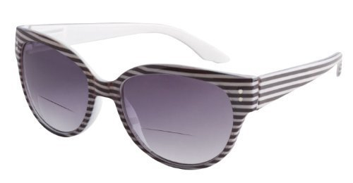 Retro Bi-Focal Reading Sunglasses Black and White By ICU wit
