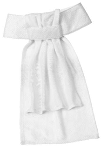 Ovation Drilex Dressage Stock Tie - Size:Medium Color:White