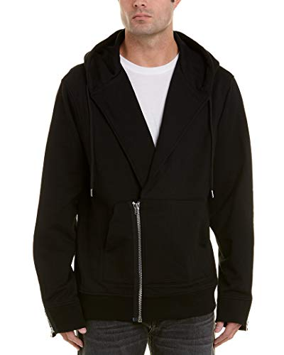 - Helmut Lang New $320 Black Port French Terry Overlap Zip Hoodie Sweater Size M