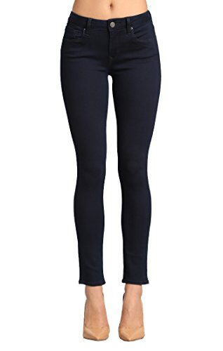 Deconstructed Skinny Leg Jean - Mavi Women's Alexa Mid-Rise Skinny Jeans, Dark Shanti, 28W X 28L