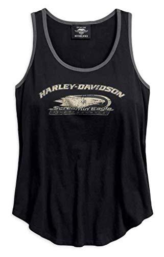 Harley-Davidson Women's Screamin' Eagle Sleeveless Tank, Black 96299-18VW (XL)