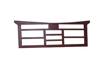 Kopfteil Headboard 100cm Feng Shui Braun Massiv Holz Moebel Bett